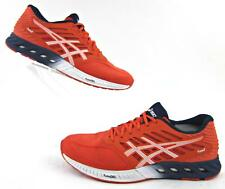 Asics FuzeX Running Shoes Red White Navy US 11.5 Fits US 11 / Rare Color!