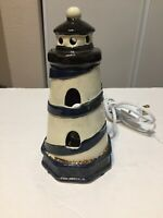 Lighthouse Lamp Night Light Nautical Ceramic 7.5 Inches