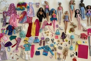 Huge Barbie Dolls, Clothing, And Accessories Lot