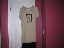 Woman's Dress Nina  Piccalino short sleeve tan black colors  girafffe  sz 8 EUC
