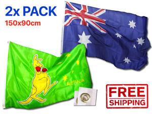 Australian Boxing Kangaroo | 2X Heavy Duty Flag | Aussie Australia OZ AU Outdoor