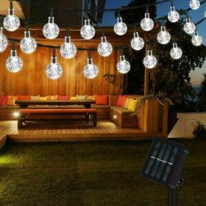 100LED SOLAR POWERED RETRO BULB STRING LIGHTS GARDEN OUTDOOR FAIRY SUMMER LAMP