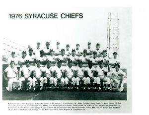 1976 SYRACUSE CHIEFS 8x10 TEAM PHOTO NEW YORK YANKEES GUIDRY CATER BOYER CLAY