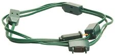 (3) 9' 18/2 Spt2 Green 9 Outlet Christmas Tree Cube Tap Extension Cords w Switch
