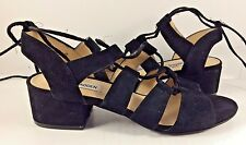 Steve Madden Black Suede Kittyy Lace Up Sandals Womens Size US 7,5M