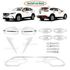 22P Upgrade Accessories Chrome Smart Molding Trims For 2016-2020 Mazda CX-9 SUV