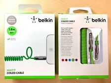 Belkin MIXIT Coiled Aux Audio Cable 1.8m 6FT Green