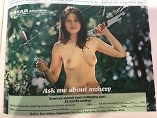 Bear Archery Ad Nude Naked Pin Up Model with Bow VINTAGE COMPLETE MAGAZINE