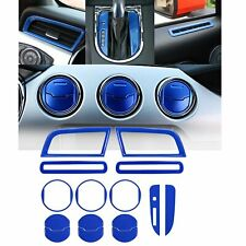 Ford Mustang Interior Accessories Decoration Console Central Cover (BLUE 15PCS)