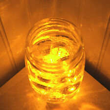 10 Pack~Amber~Submersible Waterproof Underwater Battery LED Tea Light~Wedding