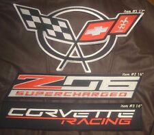 Corvette Racing Team SUPERCHARGED Z06 Iron-on Logo for RACING JACKET 3-item Set