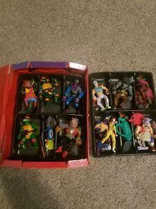 Teenage Mutant Ninja Turtles TMNT Vintage Lot 1988 with Action Figure Case