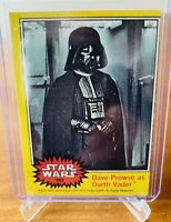 1977 Topps Star Wars Dave Prowse as Darth Vader #183 Yellow Series Card Rookie