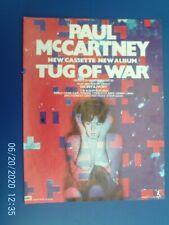 More details for paul mccartney - tug of war - poster advert 1980s original