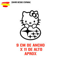 pegatina RACING JDM HELLO KITTY SUBARU Sticker vinyl decal divertido 9Cm Vinilo