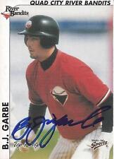 BJ Garbe 2000 Quad Cities River Bandits Signed Card