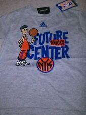 "NEW - NBA - NEW YORK KNICKS - ADIDAS - GRAY ""FUTURE CENTER"" SHIRT - 3T"