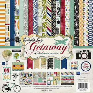 Travel Vacation Getaway Collection 12X12 Scrapbooking Kit Echo Park Paper Co NEW