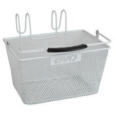 Evo Lift-Off Mesh White Handlebar bicycle basket-Steel 24x17x13cm-9.5x6.7x5.2in