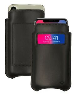 iPhone 11 Pro Case   iPhone Xs Case BLACK Leather NueVue Screen Cleaning WALLET