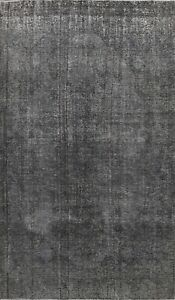 Antique Overdyed Traditional Area Rug Distressed Evenly Worn Hand-knotted 6x10