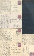 CZECHOSLOVAKIA PICTURE POSTCARD LOT OF 5 TO GERMANY AS SHOWN