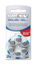 600 x Rayovac auditifs batteries 675 Cochlear Piles pr44 courtcircuite Pro +