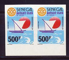 SENEGAL 1987 MARGIN IMPERF PAIR ROTARY INTERNATIONAL SCOTT 730