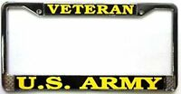 US ARMY VETERAN METAL LICENSE PLATE FRAME - MADE IN THE USA!!
