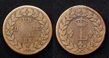 """Un Décime 1815 BB (Strasbourg) """"L"""" Couronné Louis XVIII - Bronze"""