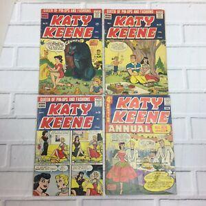Katy Keene Pin-Up Comic Lot - 32 36 38 Annual #4 Paper Dolls Bill Woggon RARE