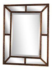 33524: Friedman Brothers #7066 Exotic Tortoise Finish Beveled Glass Mirror - New