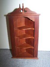 1:12 Dollhouse Miniature Don Cnossen Wooden Corner Cabinet