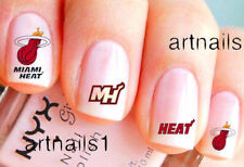 Miami Heat Basketball Sports Nail Team Fan Water Decal Stickers Salon Gift Mani