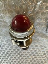 More details for vintage crabtree industrial red panel light lamp nickel plated quality 1 3/8