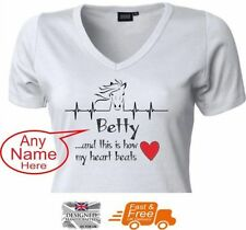 Unbranded V Neck Personalised T-Shirts for Women