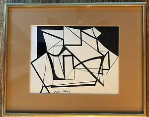 Phyllis Trager Hyman(1936-2011) Ink On Paper Original Abstract Signed Early Work
