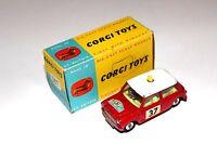 Corgi Toys 2 Tone Rallye Monte Carlo BMC Mini Cooper S # 317 Boxed Original