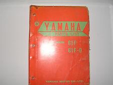 Yamaha    G1F  G1F D    parts list  book manual             (#17)