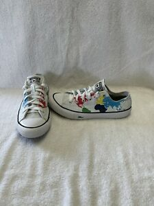Converse All Star Chuck Taylor Girls World Travel Map Shoes--size 5 Y