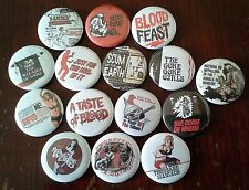 15 Herschell Gordon Lewis button Badges Gore Gore Girls Feast 2000 Manics H G