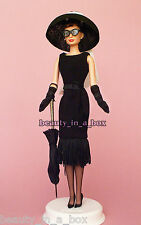 Audrey Hepburn Black Daytime Ensemble Barbie Doll Just Deboxed NO BOX Tiffany's""