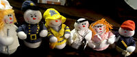 Snowman Pals/Lot Of 6/ Dolls! Each Snow Pal Doll Has Its Own Occupation! Ages 2+