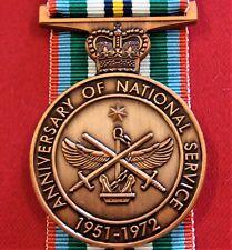 AUSTRALIAN ANNIVERSARY OF NATIONAL SERVICE MEDAL REPLICA 1951 - 1972