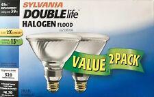 4 SYLVANIA 45-Watt Double-Life PAR38 Capsylite Halogen Flood Lights