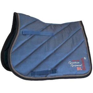 BR Saddle Pad Louvre General Purpose Denim Stitched Jeans Blue Full