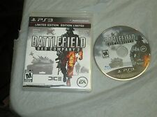 Battlefield: Bad Company 2 (PlayStation 3, PS3)(Limited Editon) with box