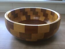 Antique Retro Vintage Wooden Fruit Bowl