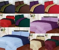 REVERSIBLE SOFT BRUSH MICROFIBER BEDDING COMFORTER ALL COLORS & SIZES Two-Sided