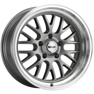 "Ridler 607 18x8 5x4.75"" +0mm Gunmetal Wheel Rim 18"" Inch"